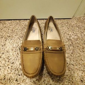 Tan Suede Memory Foam Loafers - Size 8.5